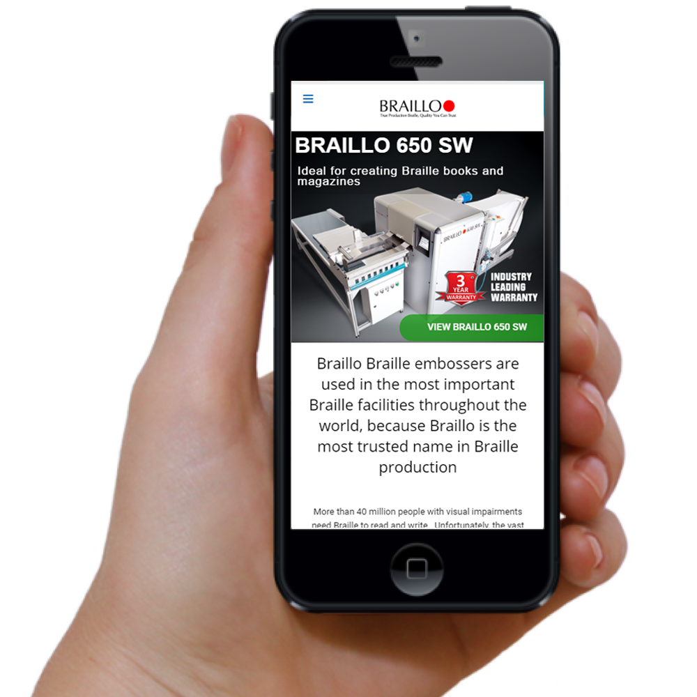 Mobile Website Design Braillo