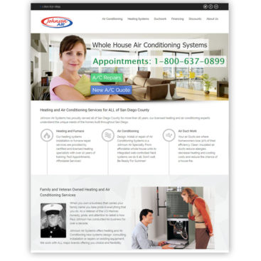 Johnson Air San Diego Website Design