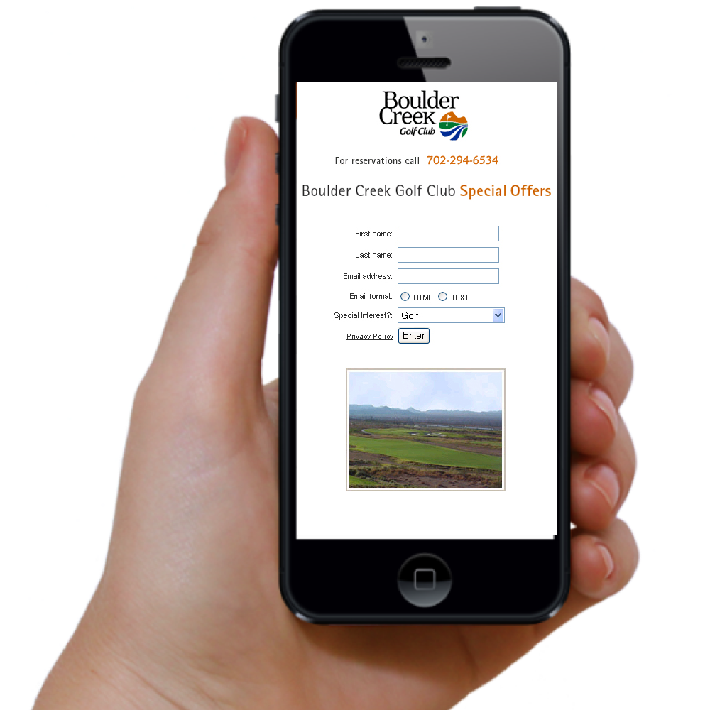 Golf Course Mobile App Design
