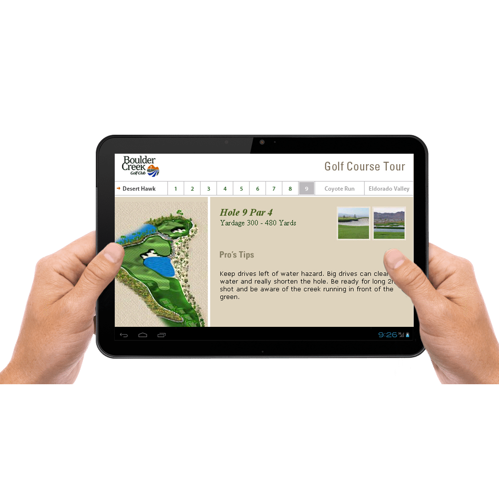 Boulder Creek Golf Course Tour Web Design