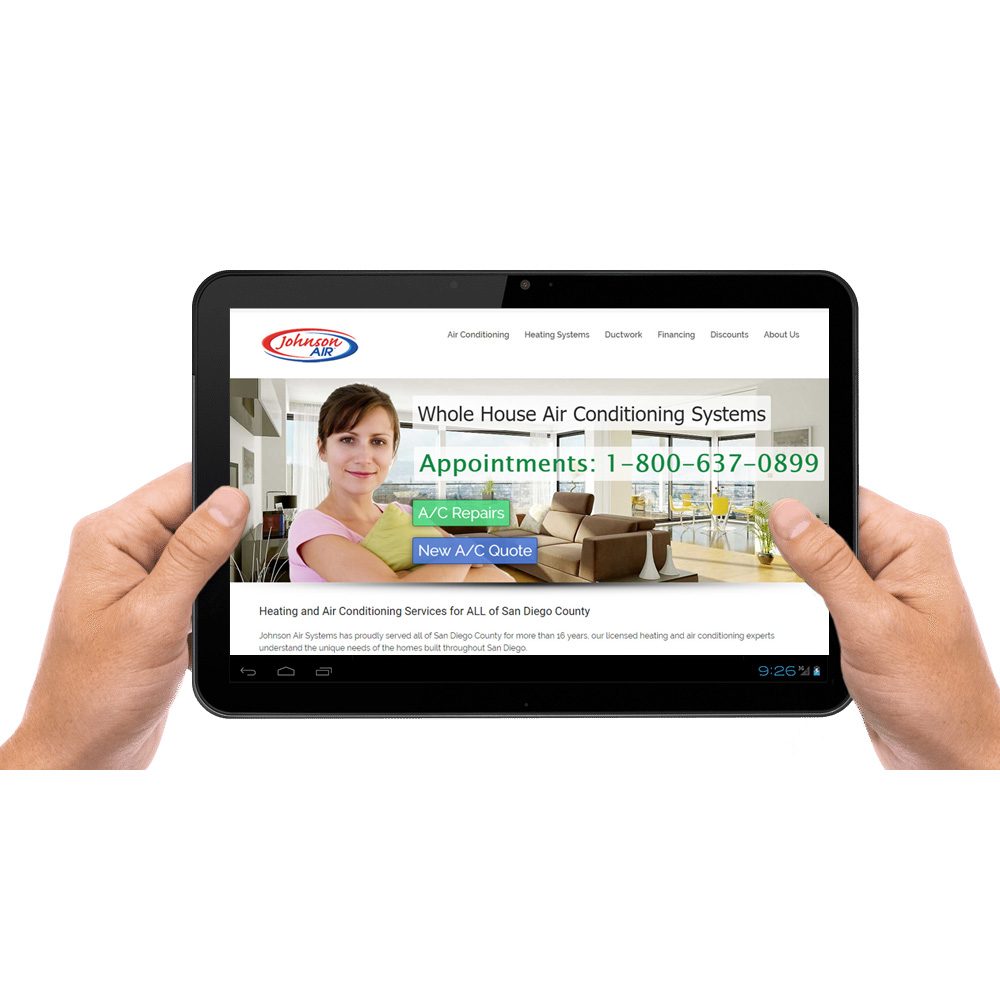Johnson Air Tablet Website Design